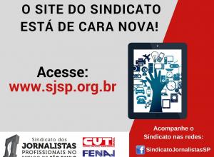 Sindicato dos Jornalistas lança novo site. Confira as novidades!