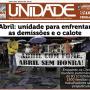 Jornal destaca luta contra o calote da Abril