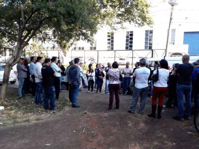Assembleia em frente à RAC, na Vila Industrial, em Campinas. Foto: Paulo Zocchi/SJSP