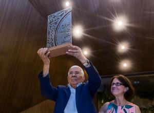 Audálio Dantas, ex-presidente do SJSP, recebe o Prêmio Averroes - Pioneiro e Compartilhador