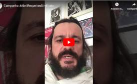 Bruno Favoretto, jornalista e ex-funcionário da Abril, participa da Campanha #AbrilRespeiteoSindicato