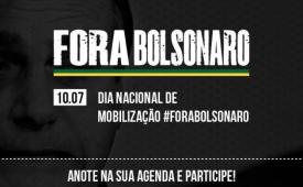CUT, centrais e movimentos lançam campanha 'Fora, Bolsonaro', na sexta-feira (10)
