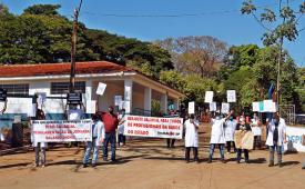 Em Ribeirão Preto, Sindicato apoia ato em prol dos trabalhadores da saúde