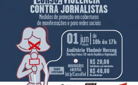 """Inscrições para o curso """"Violência contra Jornalistas"""" com medidas de segurança"""
