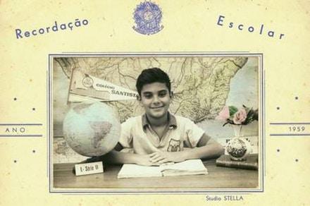 Luiz Eduardo Merlino aos 11 anos. Foto: arquivo pessoal