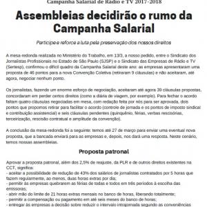 Mural 1268 - Campanha Salarial de Rádio e TV 2017-2018