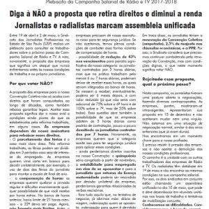 Mural 1270 - Plebiscito da Campanha Salarial de Rádio e TV