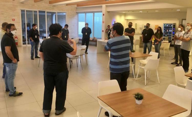 Novos dirigentes do Sindicato, inclusive o presidente, Thiago Tanji, se apresentaram aos colegas do Grupo Tribuna, e falaram sobre perdas e desafios da categoria / Foto: Solange Santana