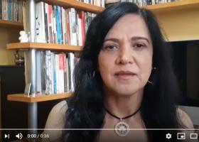 Presidenta da Fenaj, Maria José Braga, declara apoio à campanha #AbrilRespeiteoSindicato
