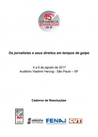 Resoluções do 15º Congresso Estadual dos Jornalistas