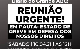 Sindicato convoca jornalistas do Diário do Grande ABC para reunião sobre estado de greve