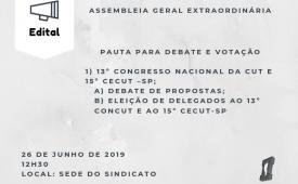 Sindicato convoca jornalistas para deliberar sobre o 13º Congresso Nacional da CUT e 15º Cecut –SP