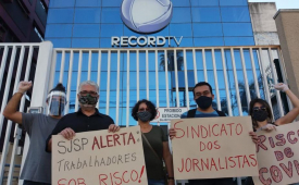 Sindicato denuncia omissão da Record Litoral diante de casos de coronavírus