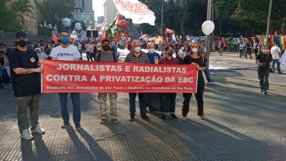 SJSP manifestou-se na Praça da República em SP