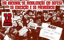 Tsunami em defesa da educação e da aposentadoria ocupará São Paulo no dia 13